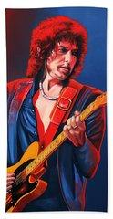 Bob Dylan Painting Bath Towel