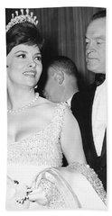 Bob Hope And Gina Lollobrigida Hand Towel