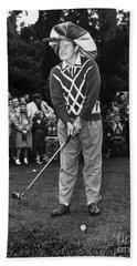 Bob Hope At Bing Crosby National Pro-am Golf Championship  Pebble Beach Circa 1955 Bath Towel