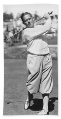 Bobby Jones At Pebble Beach Hand Towel by Underwood Archives