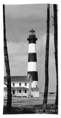 Bodie Island Lighthouse In The Outer Banks Hand Towel