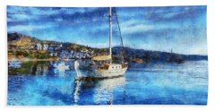 Bodrum Bay In Turkey Bath Towel