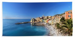 Bogliasco Village. Italy Bath Towel by Antonio Scarpi