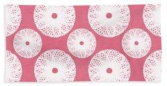 Pink Flowers Bath Towels