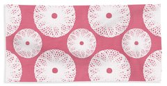 Pink Flower Bath Towels