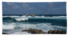 Boiling The Ocean At Laie Point - North Shore - Oahu - Hawaii Bath Towel