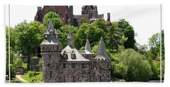 Boldt Castle And Powerhouse Hand Towel by Rose Santuci-Sofranko