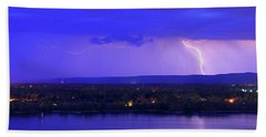 Bolt Over Gatineau Hills  Bath Towel