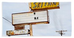 Bombay Beach Abandoned Ski Inn Hand Towel