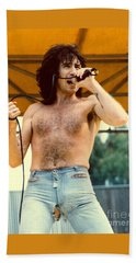 Bon Scott Of Ac Dc At Day On The Green - July 1979 Hand Towel