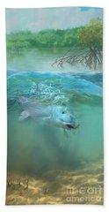 Bone Fish Hand Towel by Rob Corsetti