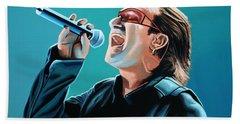 Bono Of U2 Painting Bath Towel