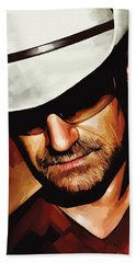 Bono U2 Artwork 3 Hand Towel by Sheraz A