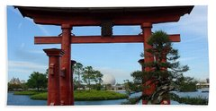 Hand Towel featuring the photograph Bonsai Pavillion by David Nicholls