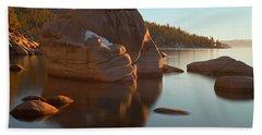 Bath Towel featuring the photograph Bonsai Rock by Jonathan Nguyen