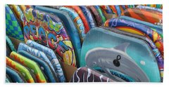 Bath Towel featuring the photograph Boogie Boards by Barbara McDevitt