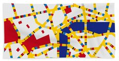 Boogie Woogie London Hand Towel by Chungkong Art