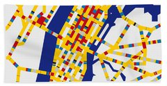 Boogie Woogie New York Hand Towel by Chungkong Art