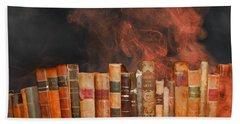 Book Burning Inspired By Fahrenheit 451 Bath Towel