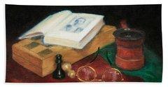 Books-chess-coffee Hand Towel
