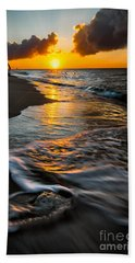Boracay Sunset Hand Towel by Adrian Evans