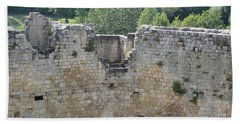 Hand Towel featuring the photograph Bordeaux Castle Ruins With Vineyard by HEVi FineArt