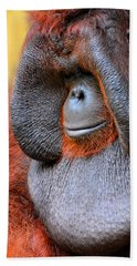 Bornean Orangutan Vi Hand Towel by Lourry Legarde