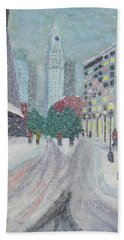 Boston First Snow Hand Towel