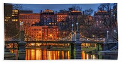 Boston Public Garden Lagoon Bath Towel by Joann Vitali