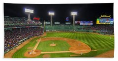 Boston Red Sox And New York Yankees At Fenway Park - Art Bath Towel