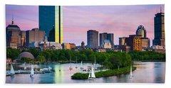 Boston Skyline Hand Towel