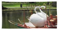 Swan Boats Photographs Bath Towels