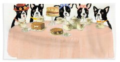 Bath Towel featuring the painting Boston Tea Party by Stephanie Grant