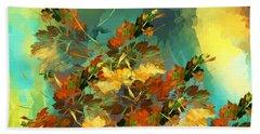 Hand Towel featuring the digital art Botanical Fantasy 090914 by David Lane