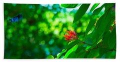 Botanical Garden Butterfly Hand Towel