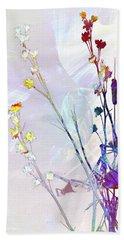 Botanical Rainbow Bath Towel by Shawna Rowe