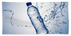 Bottle Water And Splash Bath Towel