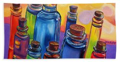 Bottled Rainbow Hand Towel by Julie Brugh Riffey