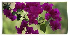 Bougainvillea Hand Towel by Fred Larson
