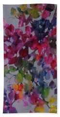 Hand Towel featuring the painting Bougainvillea by Michelle Abrams