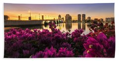 Bougainvillea On The West Palm Beach Waterway Hand Towel