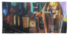 Bourbon Bar Oil Painting Bath Towel