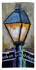 Hand Towel featuring the painting Bourbon Light by Suzanne Theis