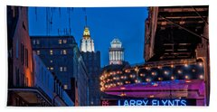 Bourbon Street And Cbd Lights  Hand Towel by Kathleen K Parker