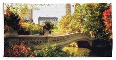 Bow Bridge - Autumn - Central Park Hand Towel