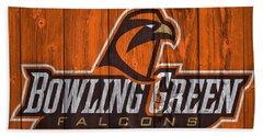 Bowling Green Falcons Barn Door Bath Towel