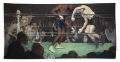 Boxing Match, 1910 Hand Towel