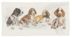 Bracco Italiano Puppies Hand Towel