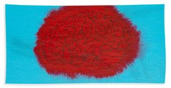 Brain Red Hand Towel