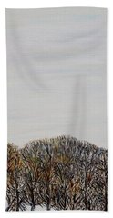 Hand Towel featuring the painting Branch Broken by Marilyn  McNish